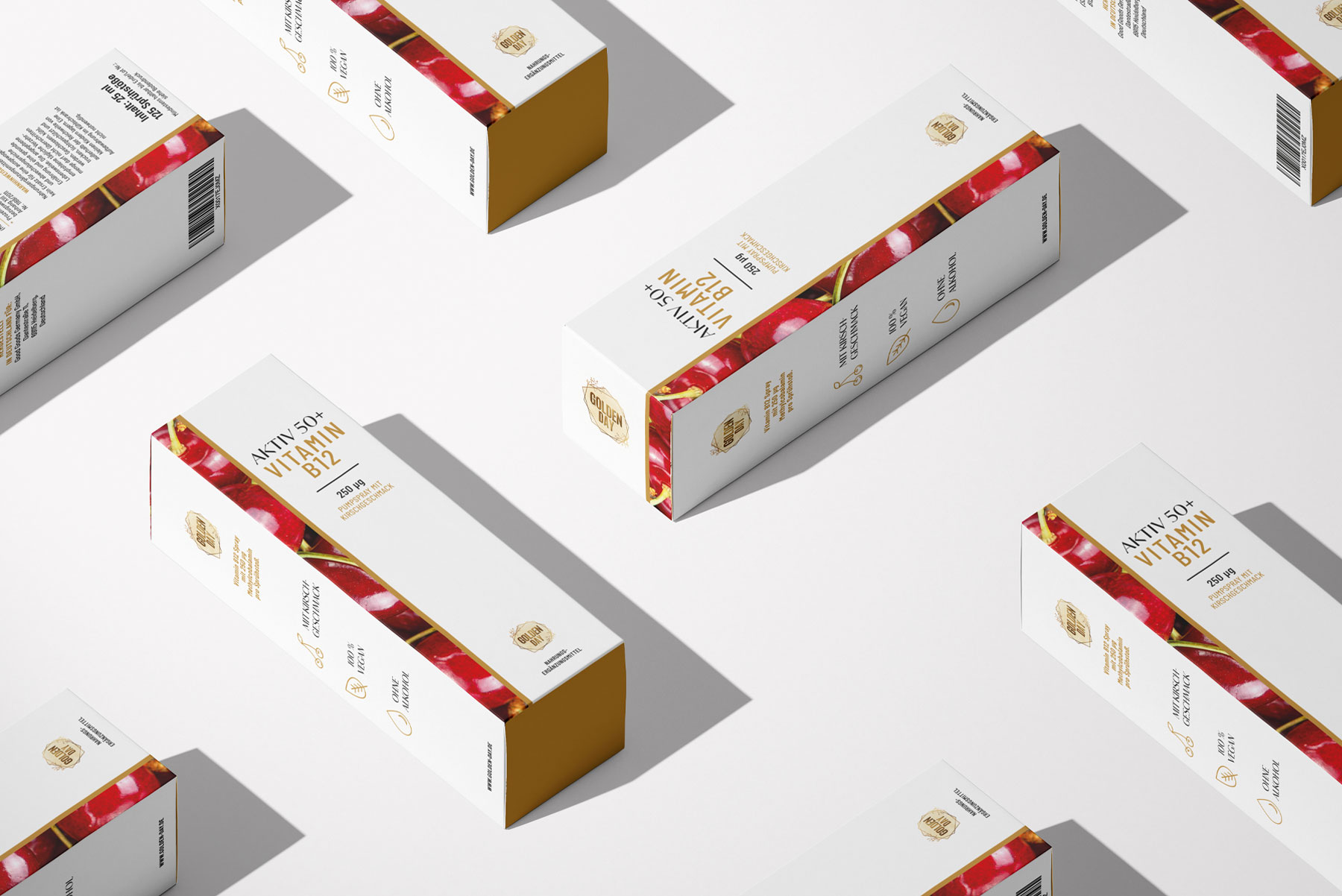 Nahrungsergänzungsmittel Verpackungsdesign Senioren Vitamin B12